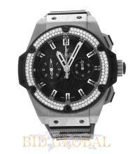 Hublot King Power Foudroyante Zirconium with Diamond Bezel. Appraisal Value: $34,400