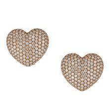 18kt 6.41ct Round Diamond Earring  .Appraisal Value: $31,000