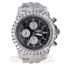 Men's Breitling Super Avenger Stainless Steel with Diamonds. Appraisal Value: $37,200