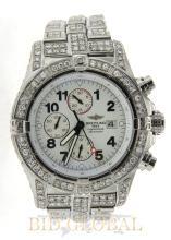 Stainless Steel Breitling Super Avenger with White Diamonds. Appraisal Value: $50,400