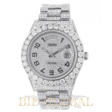 Rolex Day Date II 41MM White Gold with Diamonds. Appraisal Value: $190,800