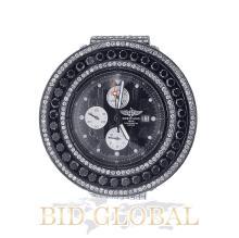 Men's PVD Breitling Super Avenger with Black and White Diamonds. Appraisal Value: $28,000