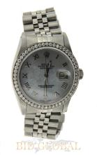 Stainless Steel Men's Datejust Rolex with Diamond Bezel. Appraisal Value: $15,600