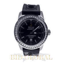 Men's Breitling Superocean Heritage 46 with Custom Diamond Bezel. Appraisal Value: $21,600