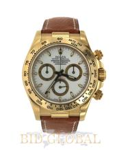 Men's Yellow Gold Rolex Cosmograph Daytona with Brown Leather Strap. Appraisal Value: $58,800