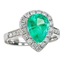 18kt 2.13ct Emerald Ring. Appraisal Value: $13,800
