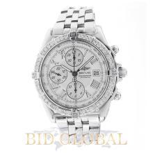 Men's Breitling Crosswind Chronograph Watch with Diamond Bezel. Appraisal Value: $14,000