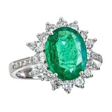 18kt 2.86ct Emerald Ring. Appraisal Value: $23,600