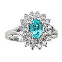 18kt 1.21ct Paraiba Tourmaline Ring. Appraisal Value: $26,000
