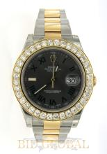 Two Tone Rolex Datejust II with Diamond Bezel. Appraisal Value: $52,000