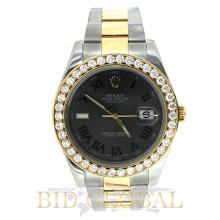 Rolex Date Just II 41MM Steel and Gold with Diamond Dial and Bezel. Appraisal Value: $56,000