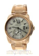 Men's Rose Gold Calibre de Cartier. Appraisal Value: $104,000