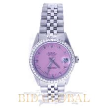Rolex Midsize 31MM Stainless Steel with Diamond Bezel. Appraisal Value: $16,400