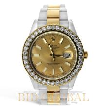 Rolex DateJust II Watch with Diamonds. Appraisal Value: $53,600