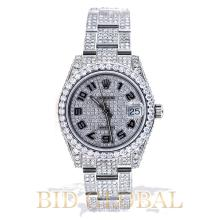 Rolex Midsize 31MM Stainless Steel All Iced Out. Appraisal Value: $44,000