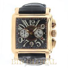 Franck Muller Conquistador Rose Gold with Leather Strap. Appraisal Value: $51,200