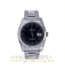 Men's Stainless Steel Black Dial Rolex Datejust Model 116200. Appraisal Value: $19,200