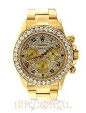 Men's Yellow Gold Rolex Cosmograph Daytona with Diamond Bezel and Dial. Appraisal Value: $103,000