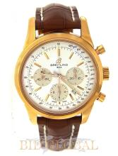 Men's Red Gold Breitling Transocean Chronograph. Appraisal Value: $46,000