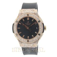 Gold 7.75ct 38 Unisex Custom Designed Hublot Classic Fussion 38mm Red Gold with Diamonds. Appraisal Value: $30,600