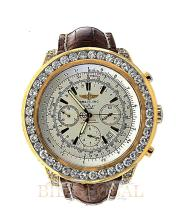 Gold 15.9ct 50mm Yellow Gold Breitling Bentley with White Diamonds. Appraisal Value: $40,600