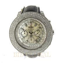 Stainless Steel 13.75ct 48mm Custom Diamond Breitling For Bentley with Leather Bracelet. Appraisal Value: $17,600