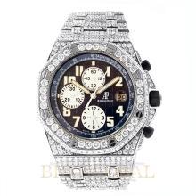 42mm Audemars Piguet Royal Oak Offshore Chronograph with Diamonds. Appraisal Value: $48,200