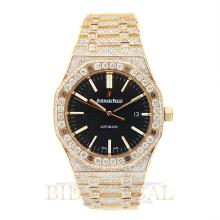 18kt 21.75ct 41mm Audemars Piguet Royal Oak Pink Gold with Diamonds. Appraisal Value: $105,000
