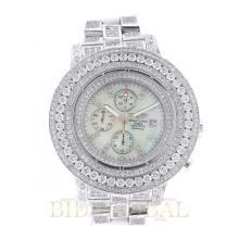 19.18ct 48mm Breitling Super Avenger with Mother of Pearl Dial and Diamonds. Appraisal Value: $17,800
