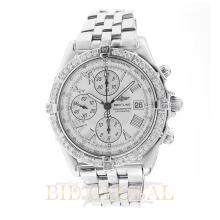 1.00ct 43mm Breitling Crosswind Chronograph Watch with Diamond Bezel. Appraisal Value: $6,600