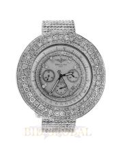 Stainless Steel 32ct 48.7mm Custom Diamond Breitling For Bentley. Appraisal Value: $25,200
