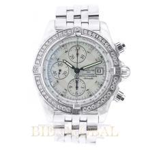 2.20ct 44mm Breitling Chronomat Evolution with Diamonds. Appraisal Value: $10,000