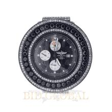 15.50ct 49mm PVD Breitling Super Avenger with Black and White Diamonds. Appraisal Value: $13,200