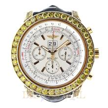 18kt 48mm Breitling Bentley Motors Yellow Gold with Leather Band. Appraisal Value: $27,200