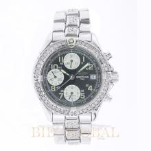 41.5mm Breitling Chrono Colt Stainless Steel with Diamonds 41.5mm. Appraisal Value: $4,200