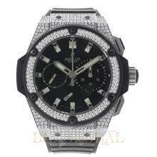 48mm Hublot King Power 48mm Zirconium with Factory Diamonds. Appraisal Value: $34,800