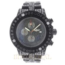 35.00ct 45mm PVD Breitling Super Avenger with Black and White Diamonds. Appraisal Value: $14,200