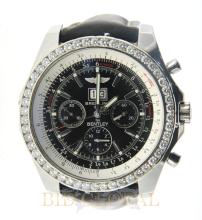 Stainless Steel 5ct 48.7mm Breitling For Bentley with Diamond Bezel. Appraisal Value: $13,800