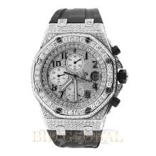 Stainless Steel 13.5ct 42mm Audemars Piguet Royal Oak Offshore with Diamond Dial and Bezel. Appraisal Value: $36,600