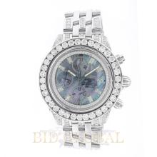 Stainless Steel 43.7mm Breitling Chronomat Evolution Watch with Diamonds - 43.7mm. Appraisal Value: $12,600
