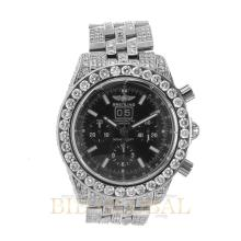 Stainless Steel 15.50ct 43.70mm Stainless Steel Custom Diamond Breitling Blackbird Watch. Appraisal Value: $18,800