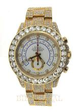 Gold 45ct 44mm Yellow Gold Diamond Rolex Yacht Master II. Appraisal Value: $105,600
