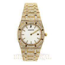Gold 35mm Yellow Gold Audemars Piguet Royal Oak Custom Diamond Watch. Appraisal Value: $32,400