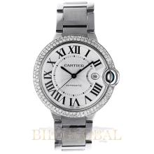 Stainless Steel 3.10ct Cartier Ballon Bleu Stainless Steel with Diamonds. Appraisal Value: $15,000