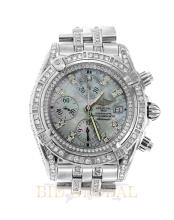 Stainless Steel 10ct 43mm Diamond Breitling Crosswind with Mother of Pearl Dial. Appraisal Value: $17,000