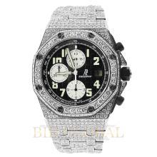 Stainless Steel 21ct 42mm Audemars Piguet Royal Oak Offshore Diamond Watch. Appraisal Value: $43,200