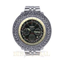 Stainless Steel 12.75ct 48mm Stainless Steel Breitling for Bentley with Custom Diamond Bezel. Appraisal Value: $16,800
