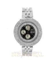 Stainless Steel 10.50ct 44.8mm Breitling Bentley GT Custom Diamond Watch. Appraisal Value: $12,400