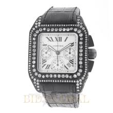 13.50ct 40mm Cartier Santos 100 Extra Large with PVD Coating and Diamond. Appraisal Value: $22,600