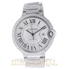 Cartier Ballon Bleu Large Size 42MM with Diamonds . Appraisal Value: $58,400